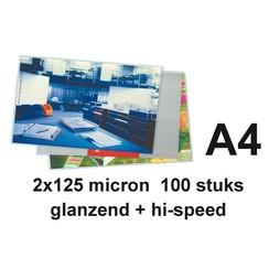 Lamineerhoes GBC A4 highspeed 2x125micron 100stuks