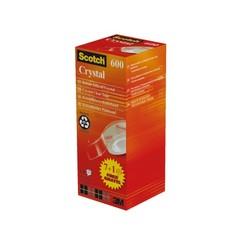 Plakband Scotch Crystal 600 19mmx33m 7+1 gratis