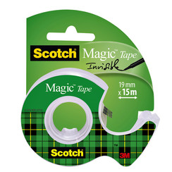 Onzichtbaar plakband Scotch Magic 810 19mmx15m +afroller