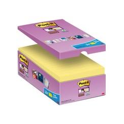 Memoblok 3M Post-it 655-P16 Super Sticky 76x127mm geel 14+2 gratis