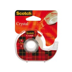 Plakband Scotch Crystal 600 19mmx25m + handafroller
