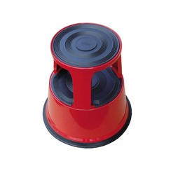 Opstapkruk Desq 42cm metaal rood