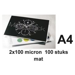 Lamineerhoes GBC A4 2x100micron mat 100stuks