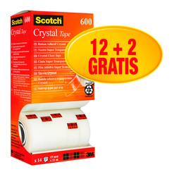 Plakband Scotch Crystal 600 19mmx33m 12+2
