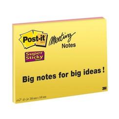 Memoblok 3M Post-it 6845SSP Super Sticky 149x200mm assorti