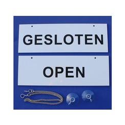 Infobord open/gesloten 100 x 300 mm