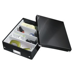 Sorteerbox Leitz WOW Click & Store 280x100x370mm zwart