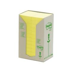 Memoblok 3M Post-it 653-1T 38x51mm 24 stuks recycled geel