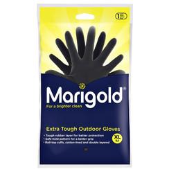 Huishoudhandschoen Marigold Outdoor zwart X-large