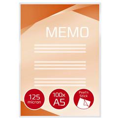 Lamineerhoes GBC A5 zelfklevend 2x125micron 100stuks