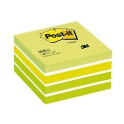 Memoblok 3M Post-it 2028G kubus 76x76mm pastel groen