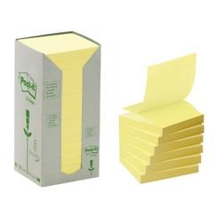 Memoblok 3M Post-it Z-Note R330-1T 76x76mm recycled 16 stuks geel