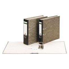 Ordner Leitz folio 80mm karton gewolkt zwart