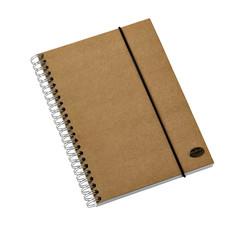 Notitieboek Multo Kraft Line A5 140blz spiraal lijn