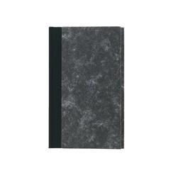 Notitieboek Octavo 103x165mm 160blz gelinieerd grijs gewolkt