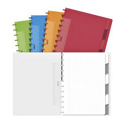 Schrift Adoc Colorlines A4 ruit 5x5mm 144blz 90gr PP assorti