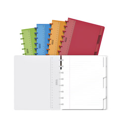 Schrift Adoc Colorlines A5 lijn 144blz 90gr PP assorti