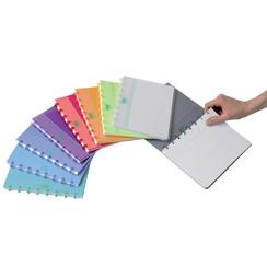 Schrift Adoc Colorlines A5 ruit 5x5mm 144blz PP assorti