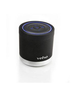 Portable 360 Bluetooth Speaker for iPhonePhonesLaptopsNetbooksBluetooth devices with Micro SD and Volumetrack control. 2x 2.2W  Black