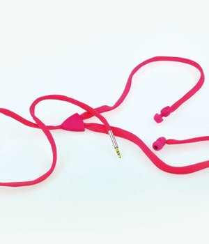 Shoe Lace Earphone Pink