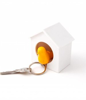 Birdhouse KeyRing yellow