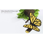 3D Yellow Butterfly Light