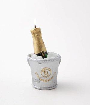 Ch agne bottle candle