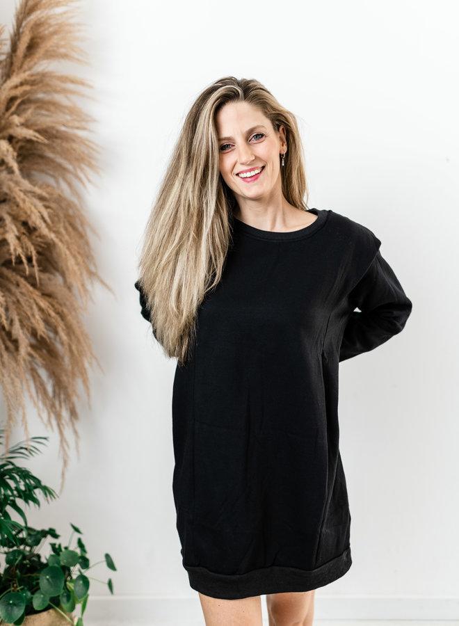 Zwarte sweaterdress
