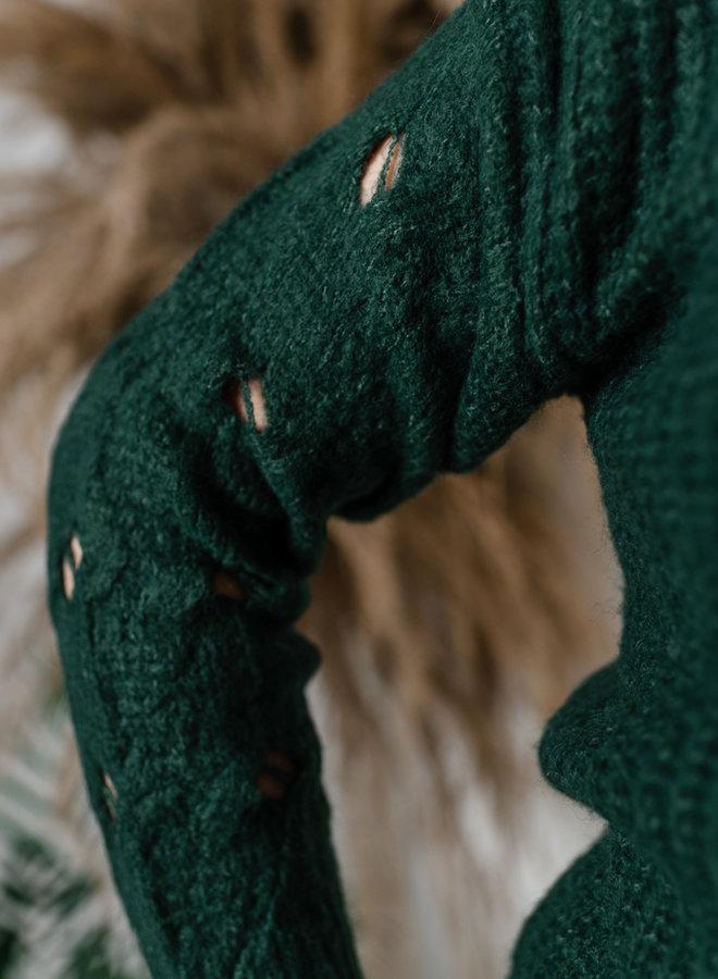 Cardigan met details aan mouwen