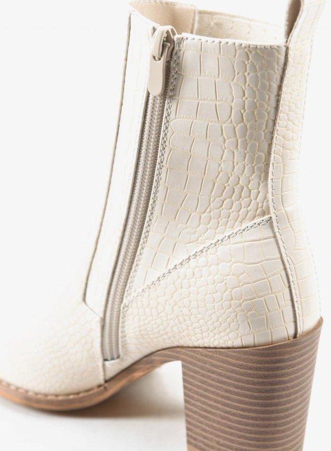 Classy Ankle Boot Ecru