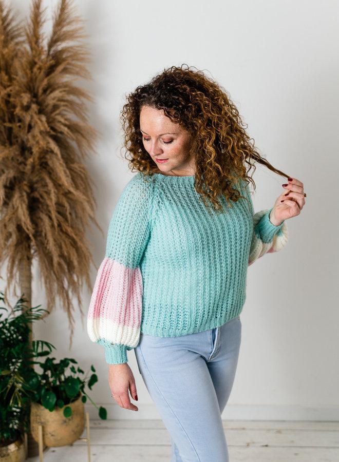 Elsa Sweater Aqua