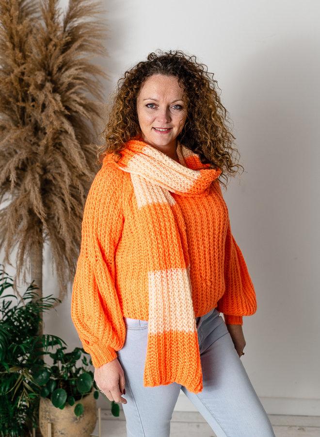 Sjaal oranje/perzik