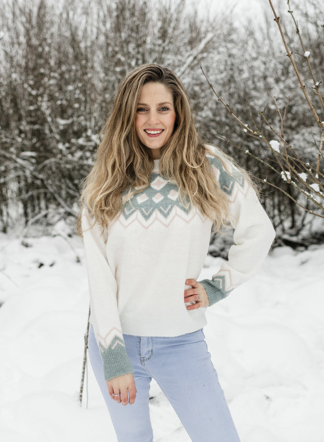 Luz Sweater White