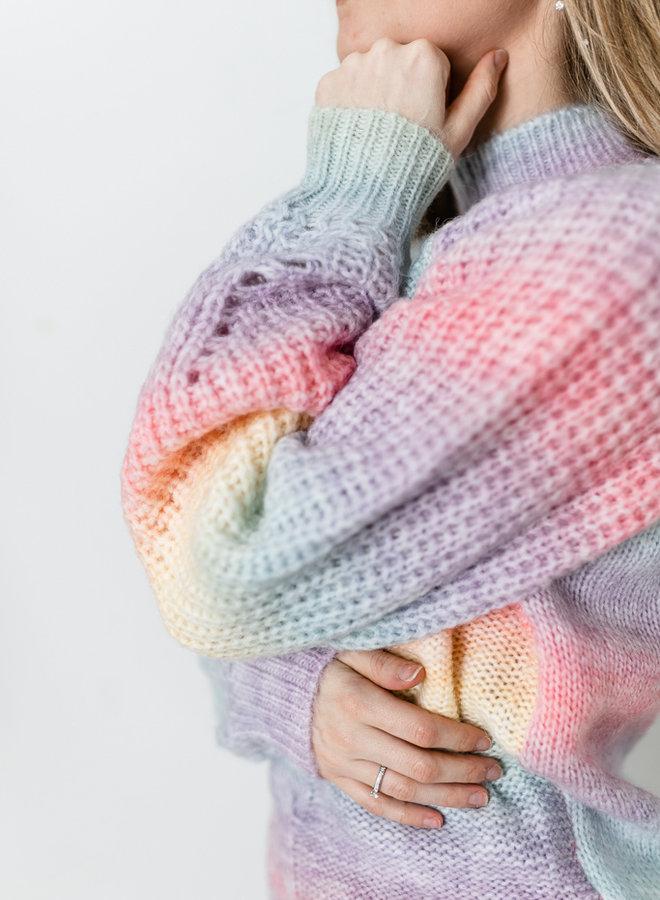Collar Rainbow Sweater