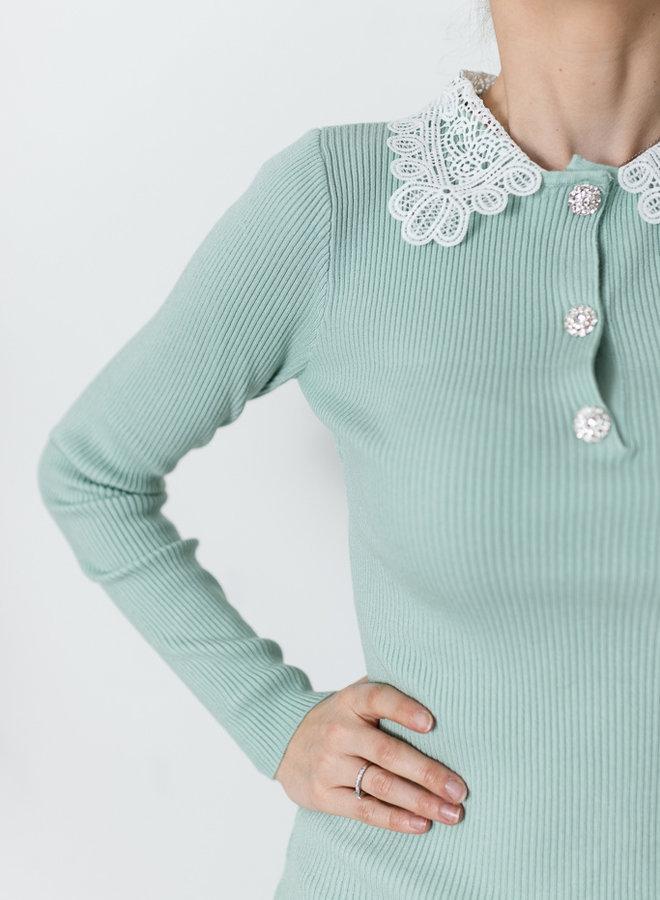 Daphne's Lace & Diamonds Shirt Mint
