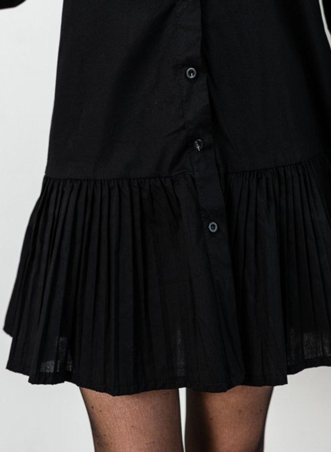 Lily hemdjurk met plooitjes zwart