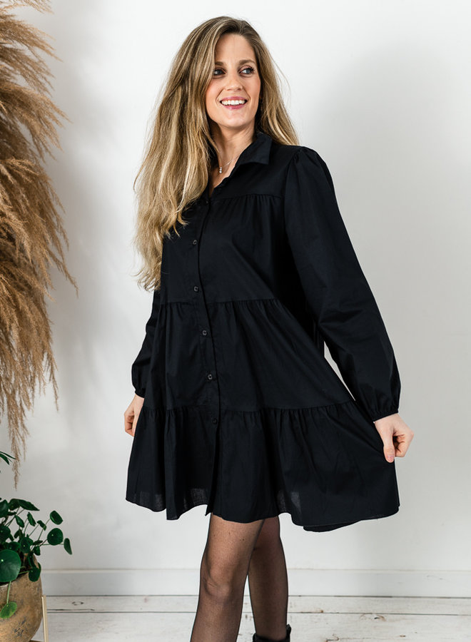 Lisa hemdjurk zwart