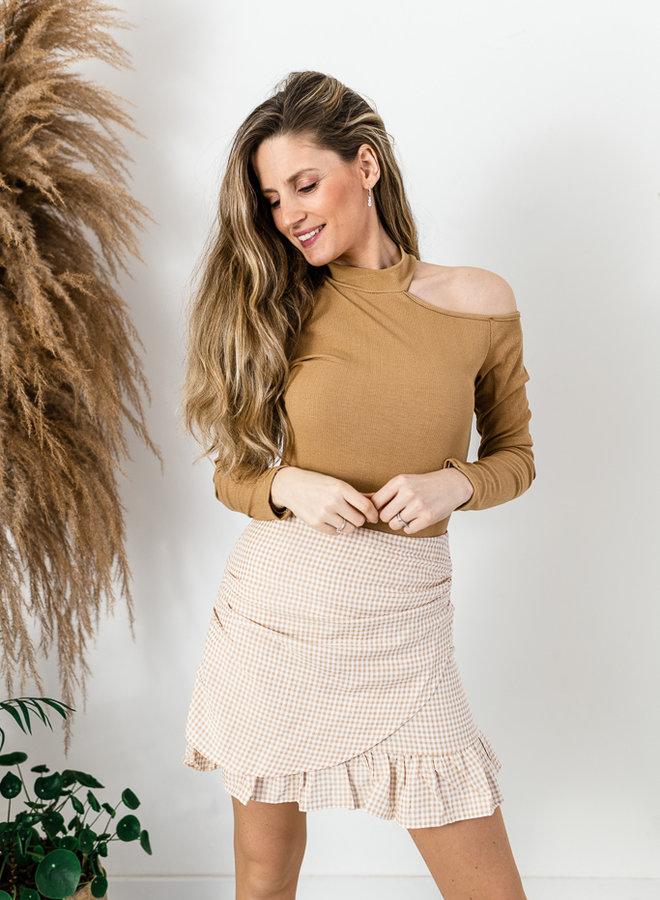 Vichy Skirt beige