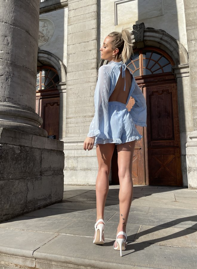 Sexy Back Summer Playsuit Blue