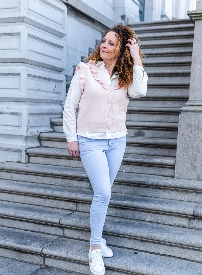 Cute Ruffle Cardigan Pink