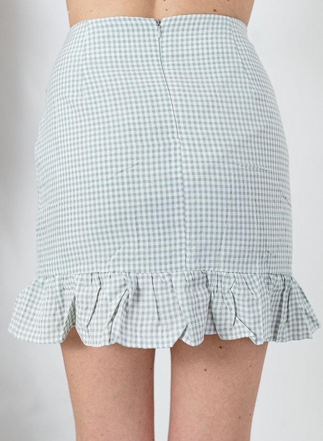 Vichy Skirt muntgroen