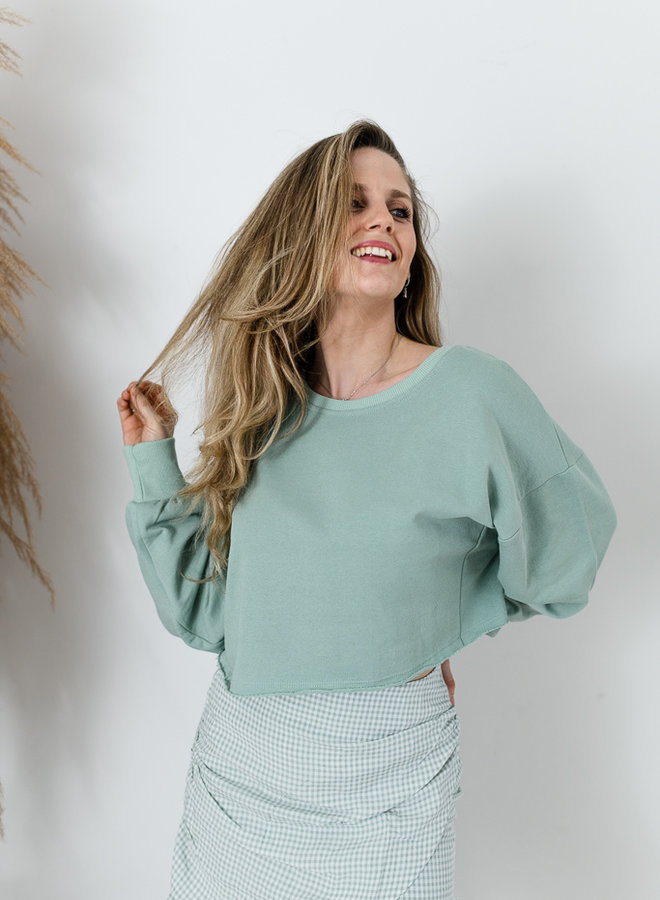 Cropped Sweater Mint
