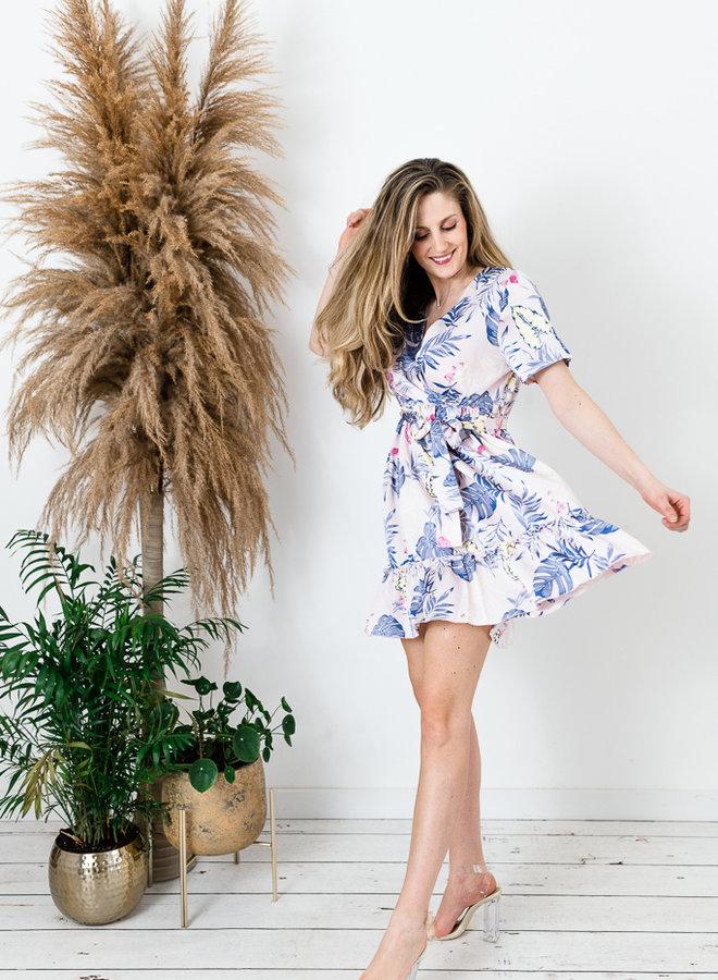 Tropical Flower Dress roze
