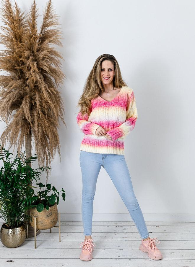 Sunrise Rainbow Sweater