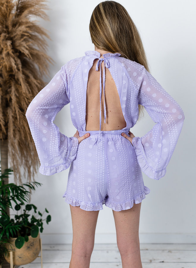 Sexy Back Summer Playsuit Lila