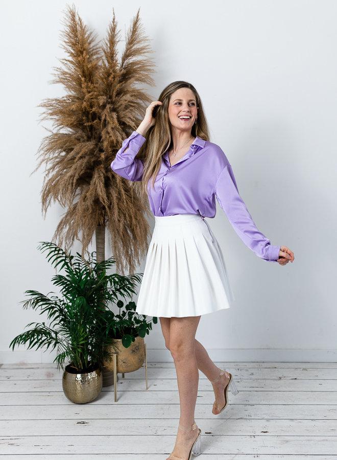Satijnen Hemd lila