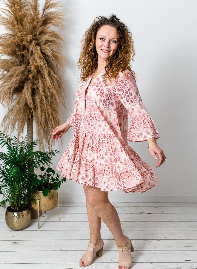 Aztec Dress Peach