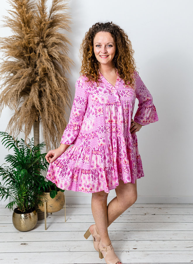 Aztec Dress Pink