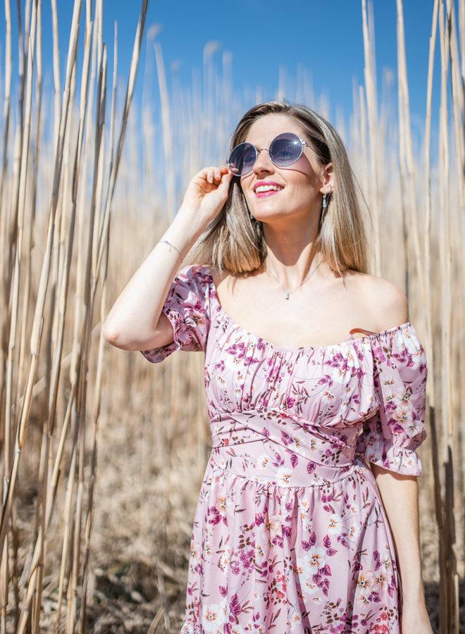 Romantic Flower Dress Pink