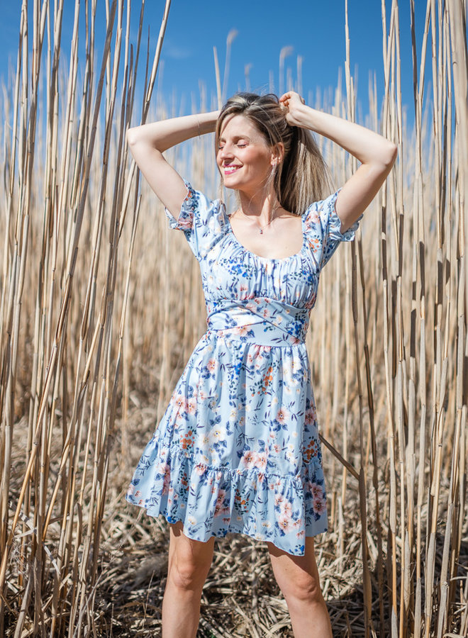 Romantic Flower Dress Blue